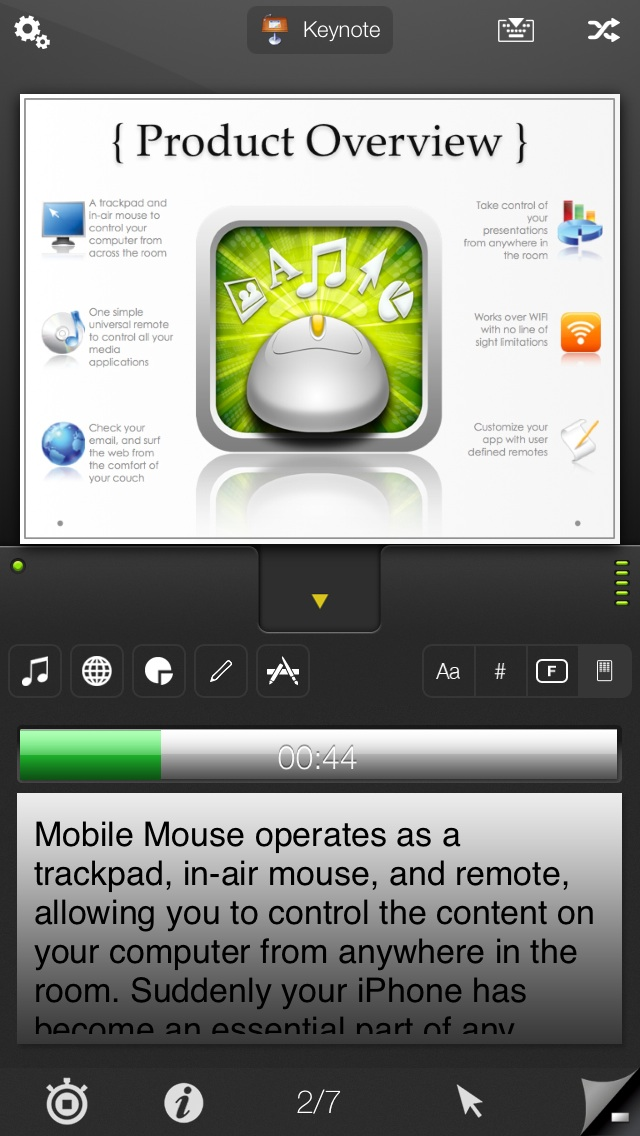 iPhone Mobile Mouse Presentation Pro