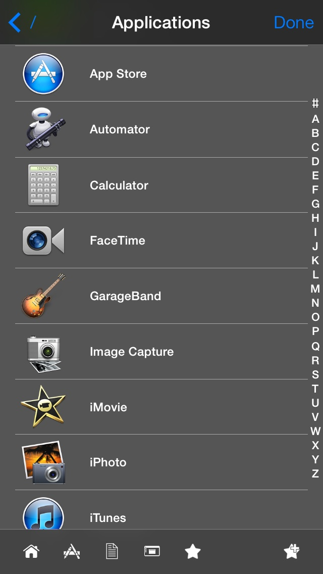 iPhone Mobile Mouse File Browser